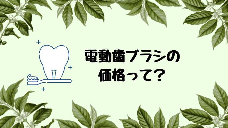 電動歯ブラシの価格って?【安い商品を選びましょう】
