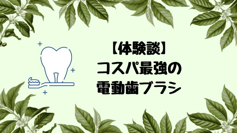 【体験談】月280円の電動歯ブラシを使ったコスパは最強
