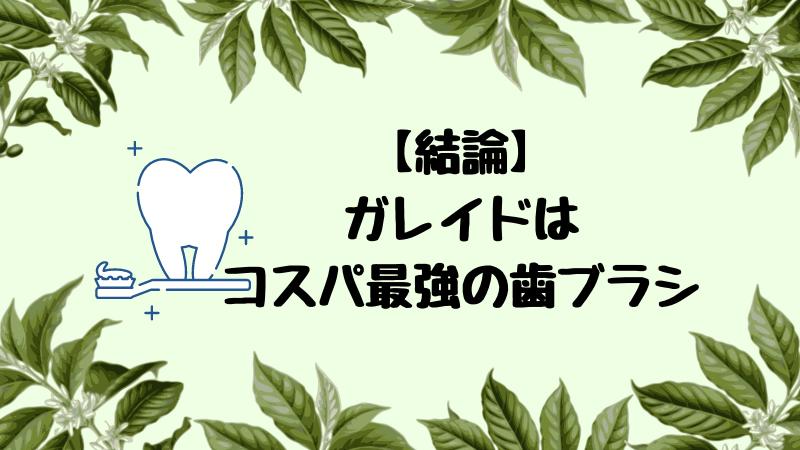【結論】電動歯ブラシのコスパ最強はガレイド一択